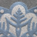 Snowflake #1 Appliqué Detail 2