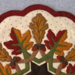 Fall Leaves Appliqué Detail 1