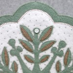 Leaf Snowflake #3 Appliqué Detail 1