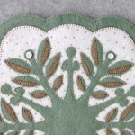 Leaf Snowflake #3 Appliqué Detail 2