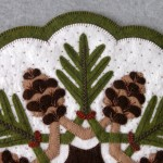 Pinecones Appliqué Detail 2
