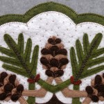 Pinecones Appliqué Detail 1