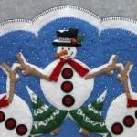 Snowman Appliqué Detail 1