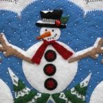 Snowmen Appliqué Detail 2