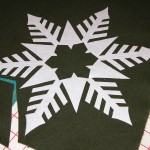 'Rough' cutting of snowflake applique - fusible: to use or not to use???
