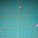 Find the 30° angle markings on your mat