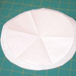 For the red samples, I placed the freezer paper pattern on the fusible.