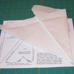 First fold using pattern template drawing