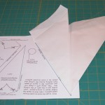 TURN OVER and line up folded edge just created!