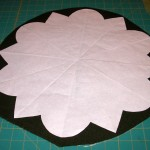 Wool background with fusible on backside - ready to be cut out