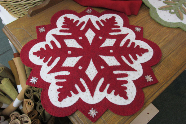 Snowflake #1 topper beautifully done in red!