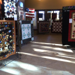 A view down one of the corridors - so many beautiful quilts!