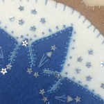Close up of Kate M.'s topper - notice the contrast stitching thread!