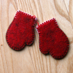 Mittens - finished backside