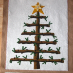 My version of the yule tree - ready for 'trimming'!