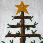 Close up of the tree top - without the 'bright star' ornament