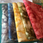 Hand dyed wools by Marcus Brothers