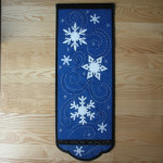"It's Snow Wonder wall hanging, about 33"" L x 13"" W"