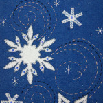 It's Snow Wonder - upper part close up of snowflakes and stitching