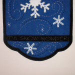It's Snow Wonder bottom with stitched words