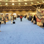 Looking down the aisles of quilt market (this is from the halfway point!) -  Wear comfortable shoes!!!