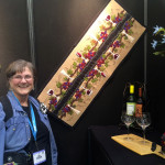yours truly by my wine runner in the National NonWoven booth