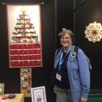 Yours truly by my Yule Tree Advent Calendar 'debut'  - in National NonWoven booth