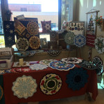 preparing for this display at our Fall In Love With Quilts Show