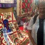 Yours truly at the Minn. State Fair with my award winning quilt!