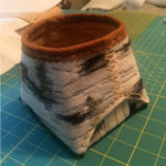 small faux birch bark basket