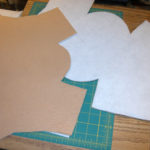2 colors of wool felt and heavy, stiff interfacing